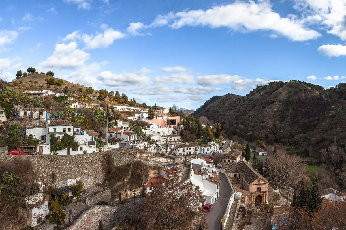 štvrť Sacromonte Granada
